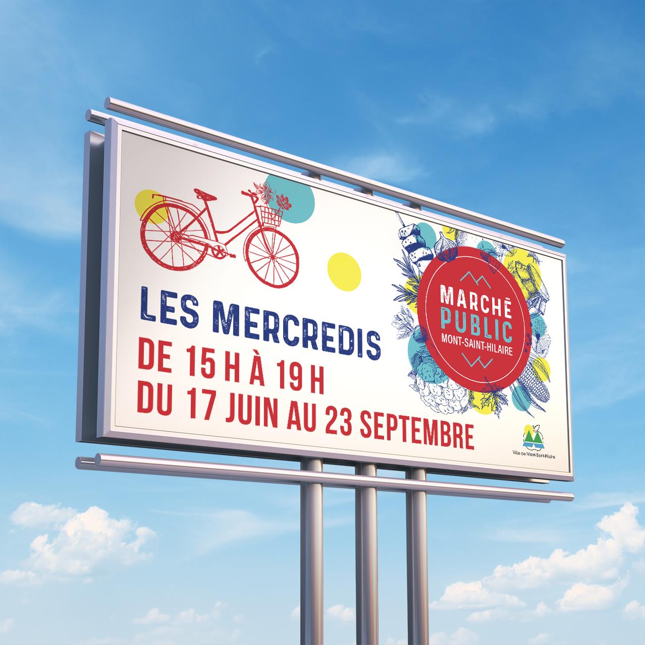 panneau publicitaire marché public mont-saint-hilaire