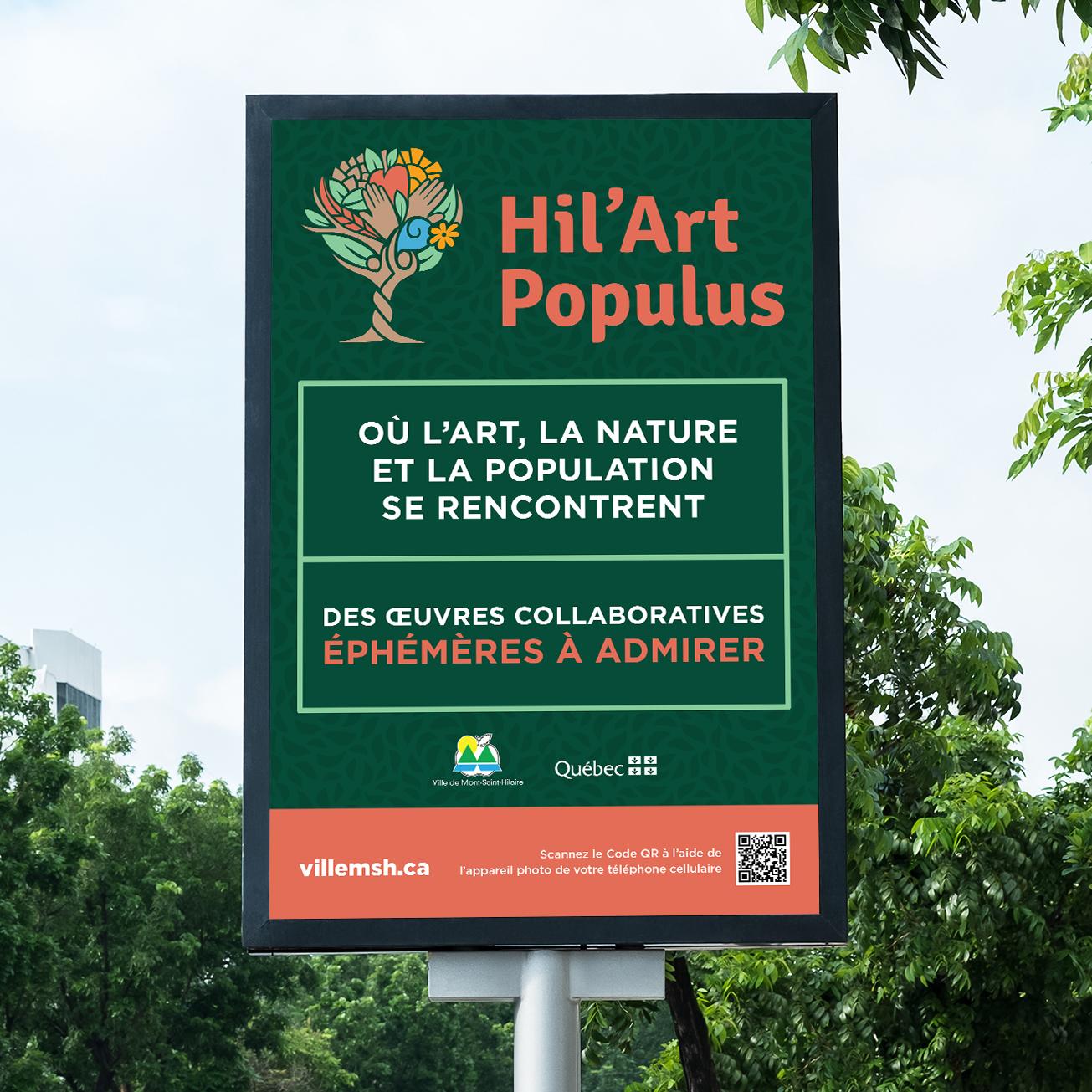 panneau publicitaire hil'art
