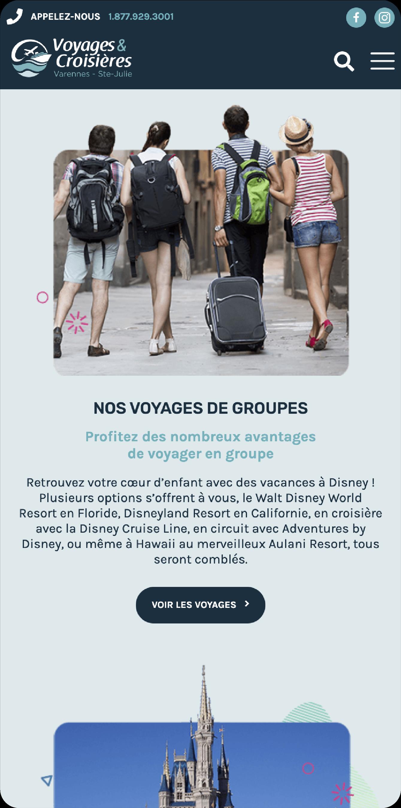 Voyages et croisières Varennes – Ste-Julie site web mobile