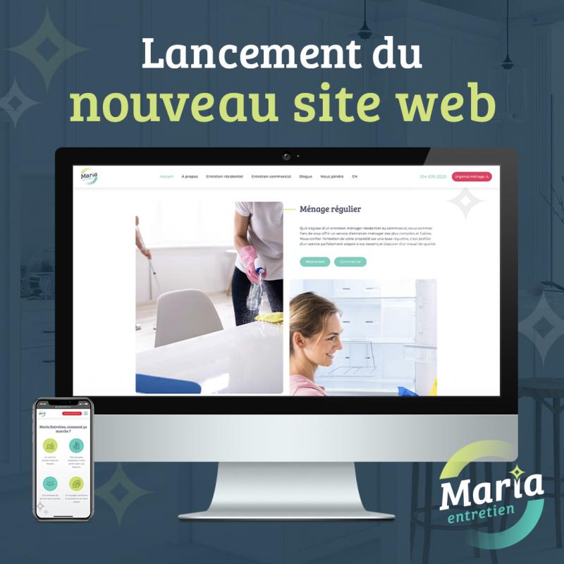 maria entretien nouveau site web